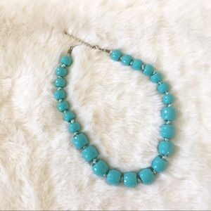Beaded Statement Necklace in Turquoise